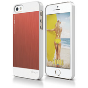 S5 Outfit Matrix Case for iPhone 5/5s/SE - White / Italian Rose