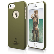 S5 Slim Fit Case for iPhone 5/5s/SE - Soft Camo Green