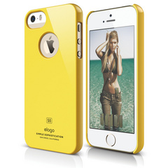 S5 Slim Fit Case for iPhone 5/5s/SE - Sport Yellow