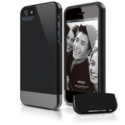 S5 Glide Case with Extra Bottom Clip for iPhone 5/5s/SE - Black