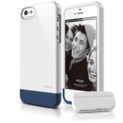 S5 Glide Case with Extra Bottom Clip for iPhone 5/5s/SE - White