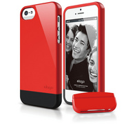 S5 Glide Case with Extra Bottom Clip for iPhone 5/5s/SE - Extreme Red