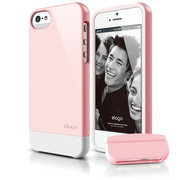 S5 Glide Case with Extra Bottom Clip for iPhone 5/5s/SE - Lovely Pink