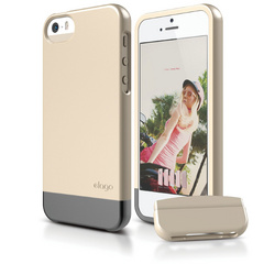 S5 Glide Case with Extra Bottom Clip for iPhone 5/5s/SE - Soft Champagne Gold