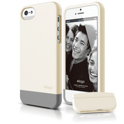 S5 Glide Case with Extra Bottom Clip for iPhone 5/5s/SE - Soft Coconut
