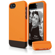 S5 Glide Case with Extra Bottom Clip for iPhone 5/5s/SE - Soft Orange