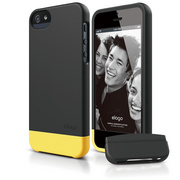 S5 Glide Case with Extra Bottom Clip for iPhone 5/5s/SE - Soft Black