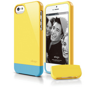 S5 Glide Case with Extra Bottom Clip for iPhone 5/5s/SE - Sport Yellow