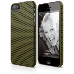 S5 Breath Case for iPhone 5/5s/SE - Soft Camo Green