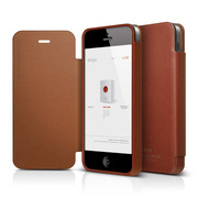 S5 Genuine Leather Flip Case for iPhone 5/5s/SE