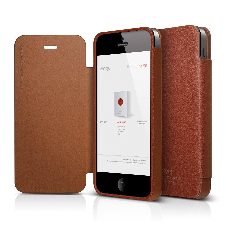 s5 genuine leather flip case for iphone 5 5s se elago europe. Black Bedroom Furniture Sets. Home Design Ideas