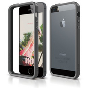 S5 Bumper Case for iPhone 5/5s/SE - Dark Gray