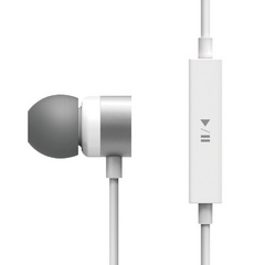 E502M Control Talk In-Ear Earphones - White / Silver