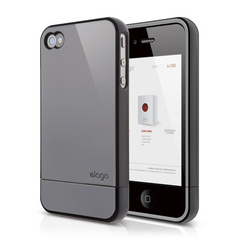 S4 Glide Case for iPhone 4/4s - Piano Black