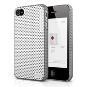 S4 Breath Case for iPhone 4/4s - Metallic Silver