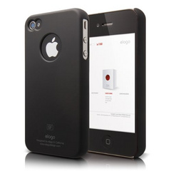 S4 Slim Fit Case for iPhone 4/4s - Soft Black