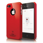 S4 Slim Fit Case for iPhone 4/4s - Extreme Red