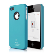 S4 Slim Fit Case for iPhone 4/4s - Soft Antique Blue