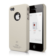 S4 Slim Fit Case for iPhone 4/4s - Soft Coconut