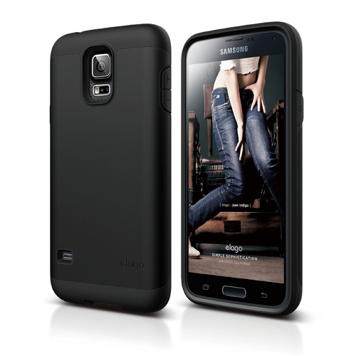 info for fd1e4 8a762 Duro Case for Galaxy S5 - Black / Black - ELAGO Europe