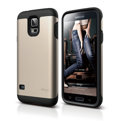 Duro Case for Galaxy S5 - Black / Champagne Gold