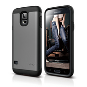 Duro Case for Galaxy S5 - Black / Metallic Dark Gray