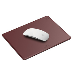 Genuine Leather Mouse Pad - Burgundy